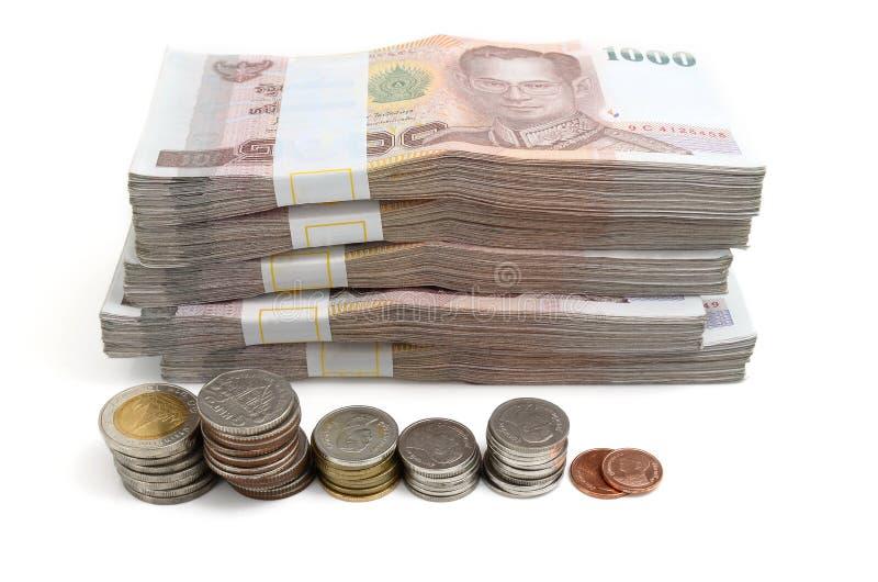 Кредитки тайского бата стоковая фотография rf
