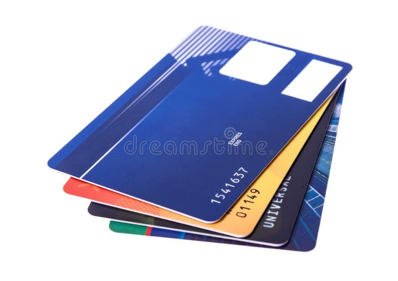 Кредитная карточка изолированная на белом background стоковая фотография rf