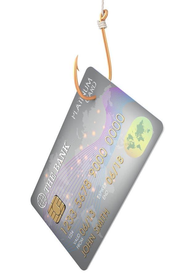 Кредитная карточка на крюке иллюстрация вектора