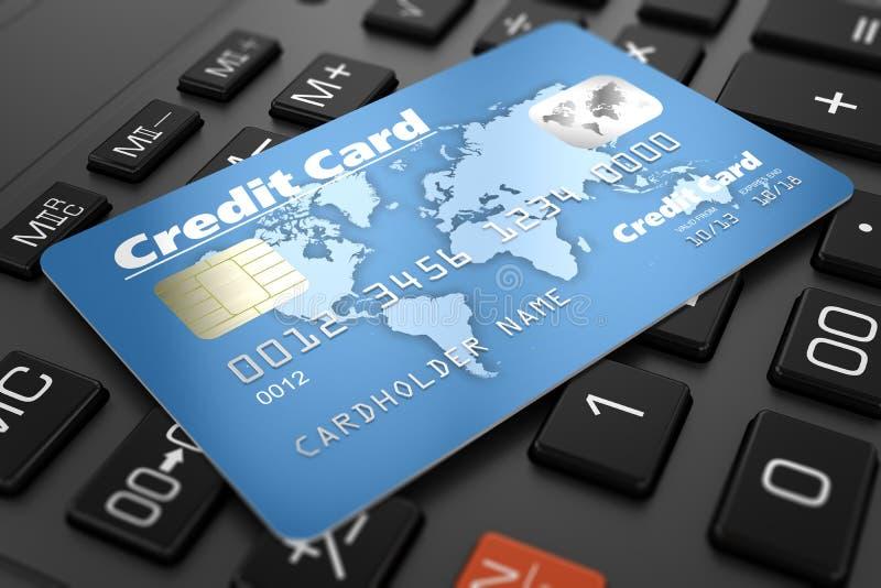 Кредитная карточка на клавиатуре иллюстрация штока