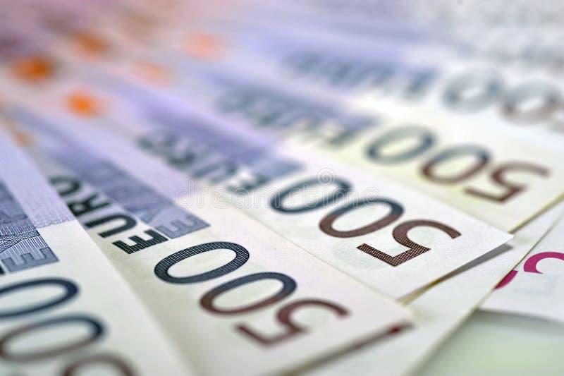 500 кредиток денег евро стоковые фотографии rf