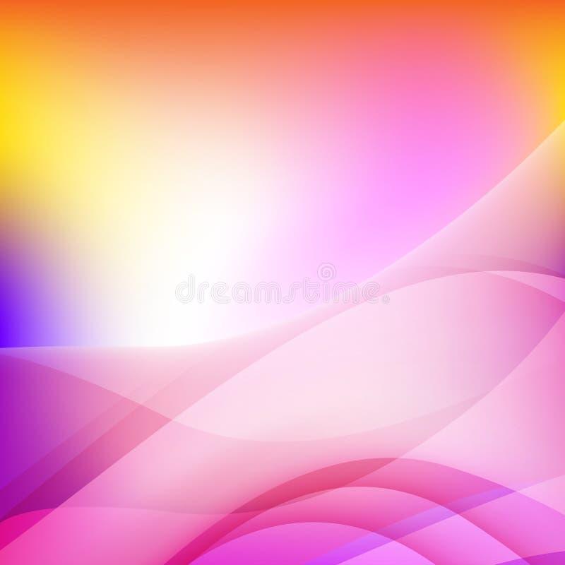 Кривая абстрактной предпосылки красочные и элемент волны иллюстрация штока