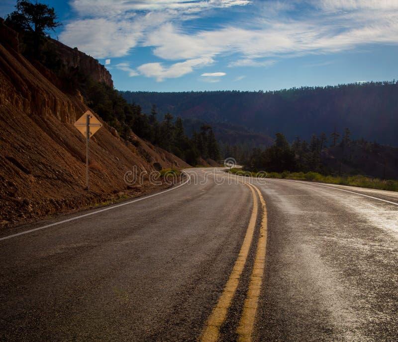 Кривая в дороге Юте стоковое изображение