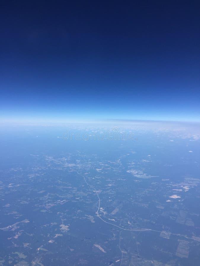 Кривая земли стоковые фотографии rf