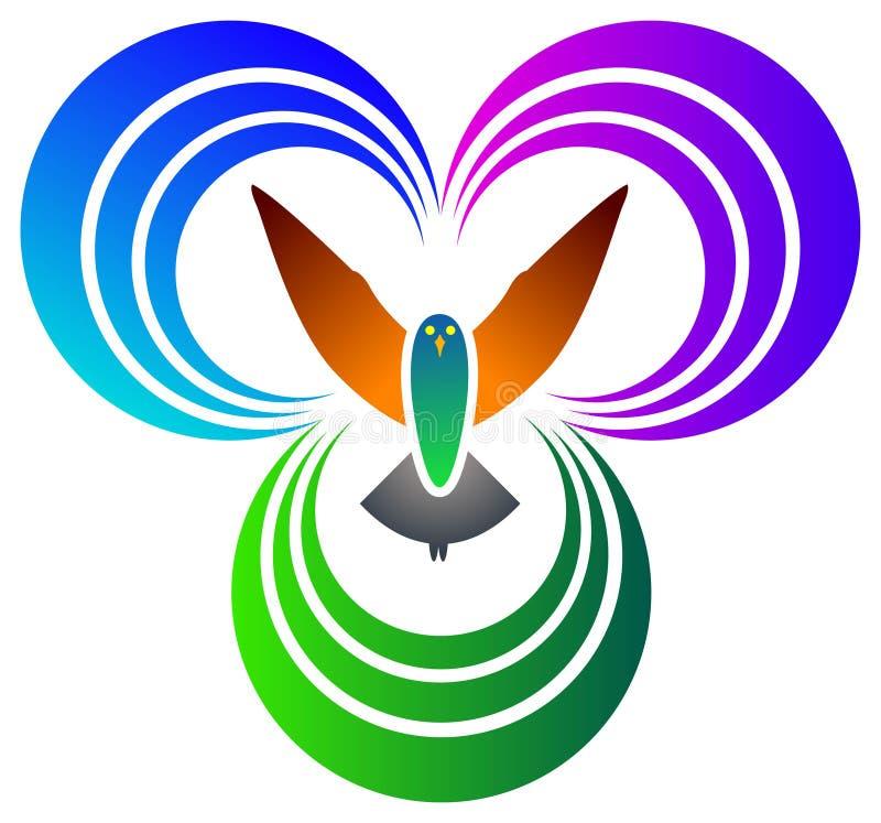 кривые птицы иллюстрация штока