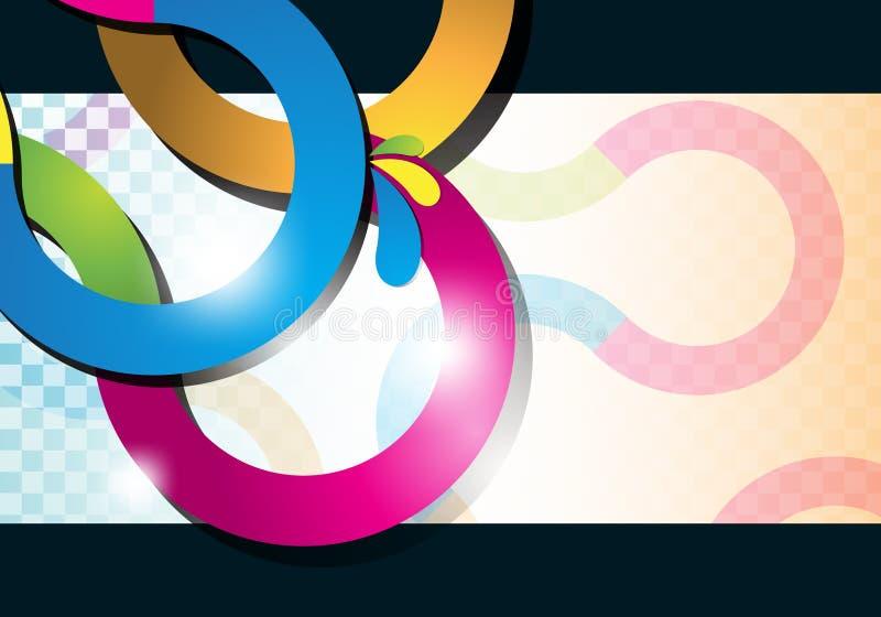 кривый предпосылки выравнивает multicolor иллюстрация штока