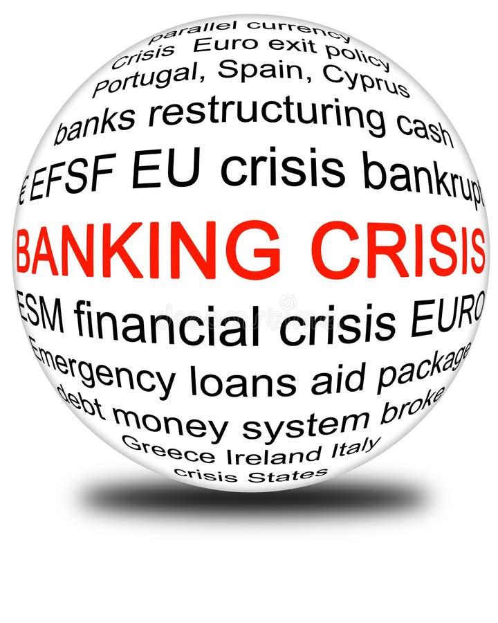 Кризис банка бесплатная иллюстрация