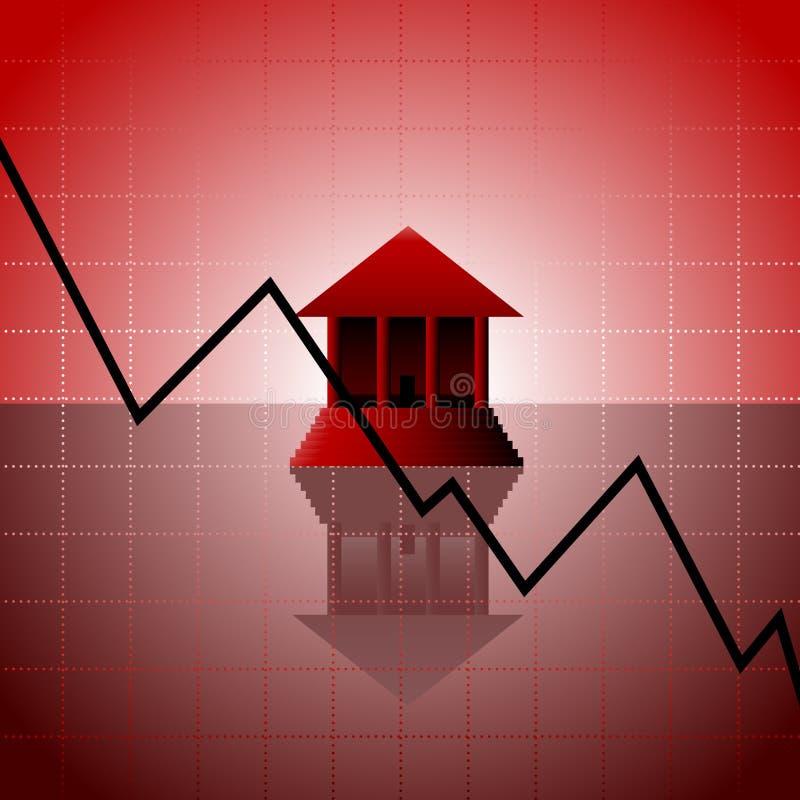 кризис банка иллюстрация вектора