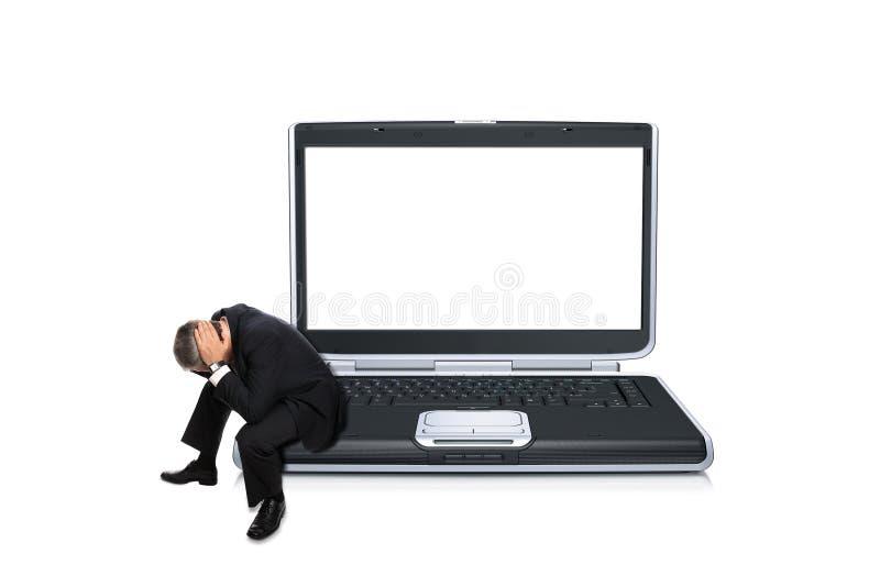 кризис бизнесмена concerned финансовохозяйственный стоковая фотография