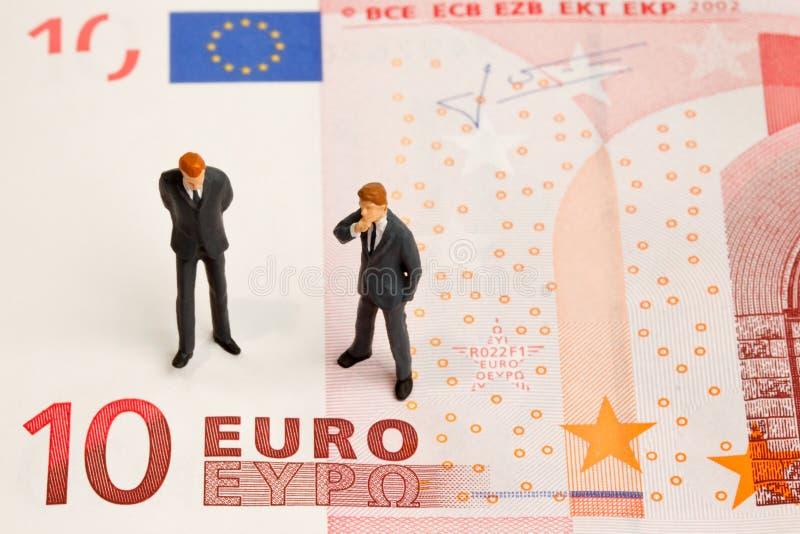 Кризис евро стоковые фотографии rf