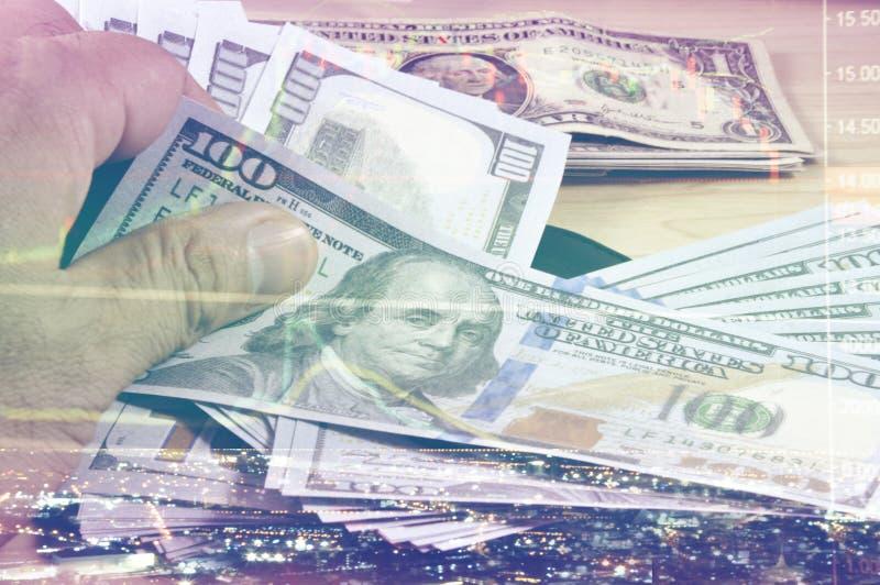 Кризис запаса в обмене денег, стоковая фотография rf