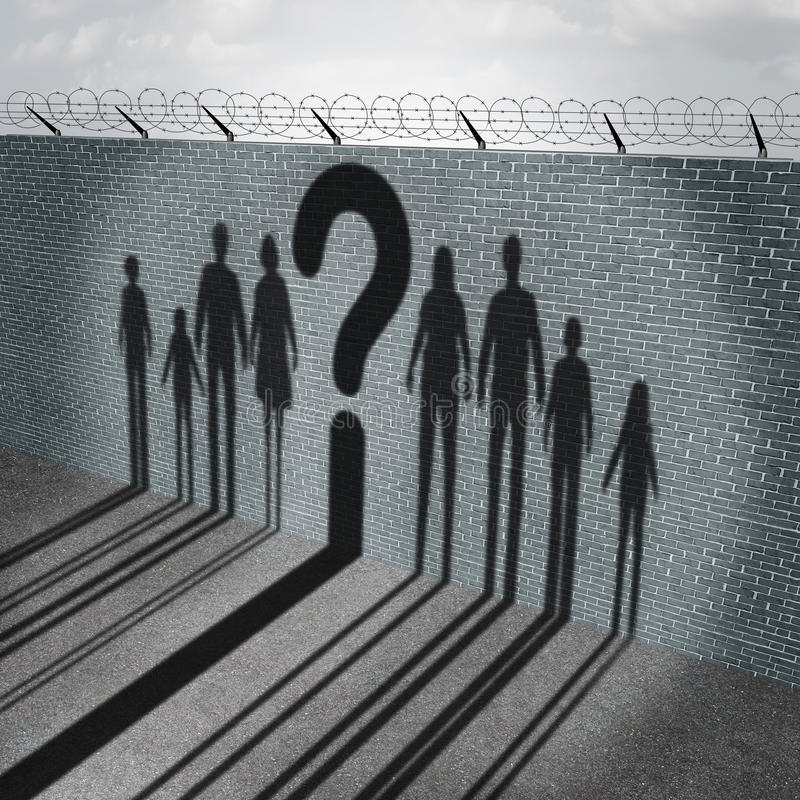 Кризис иммиграции иллюстрация штока
