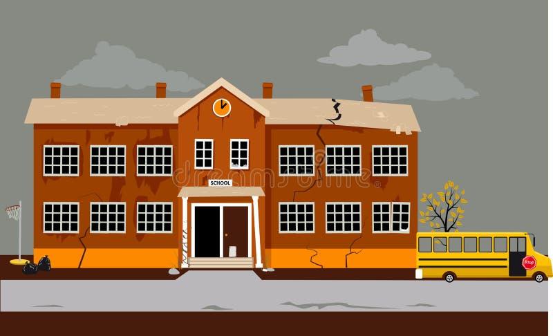 Кризис образования ударяет школы бесплатная иллюстрация