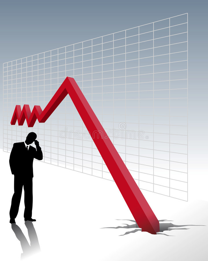 кризис хозяйственный иллюстрация штока