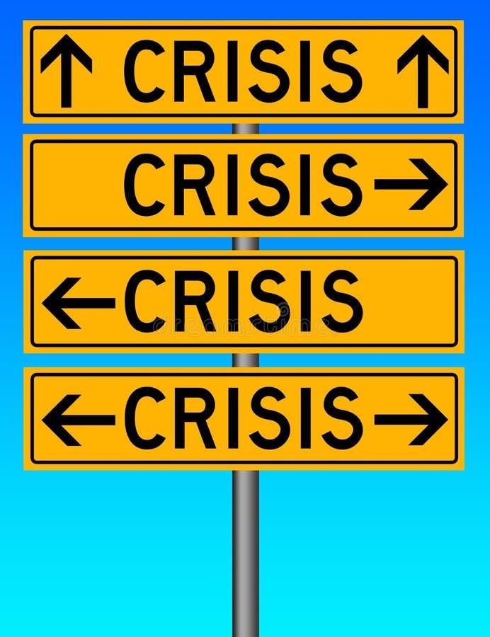 кризис иллюстрация штока