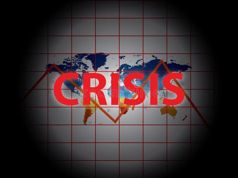 Кризис Gobal бесплатная иллюстрация