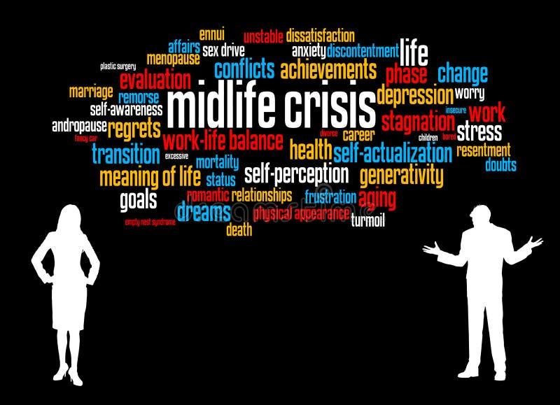 Кризис Midlife иллюстрация вектора