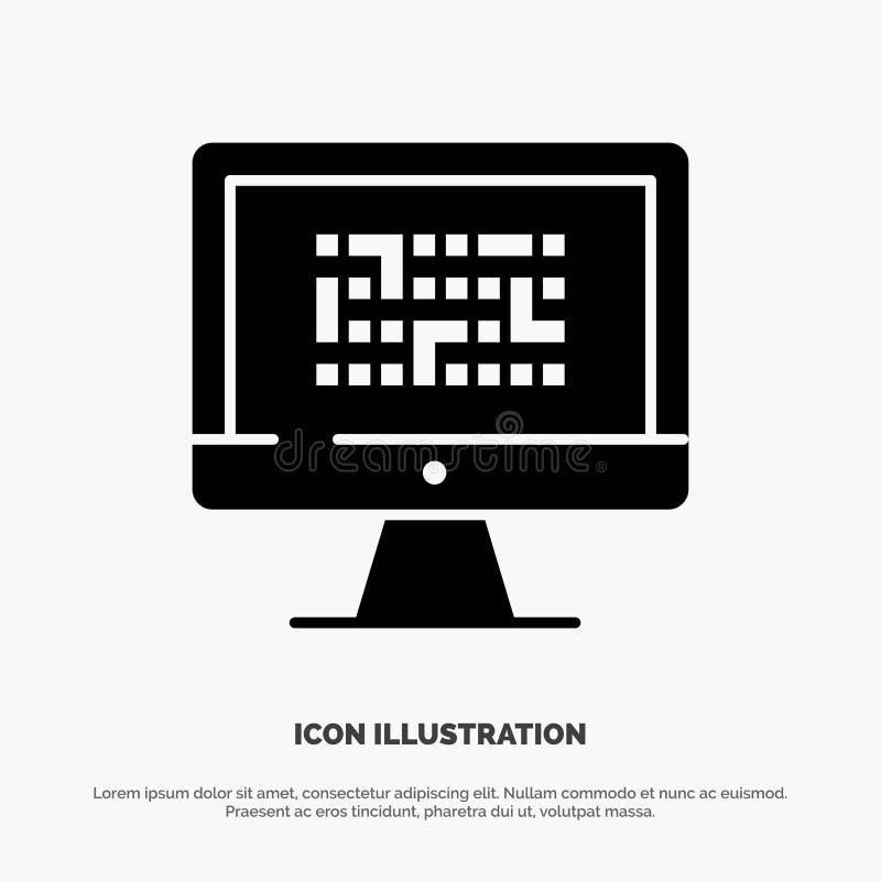Криптография, Данные, Ddos, Шифрование, Информация, Проблема сплошной глиф-вектор бесплатная иллюстрация