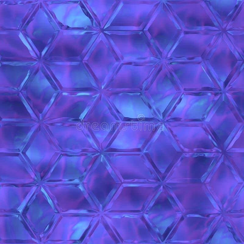 Кристаллическая безшовная текстура иллюстрация штока