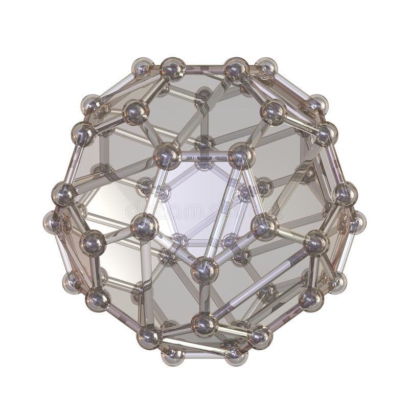 кристаллическая решетка иллюстрация вектора