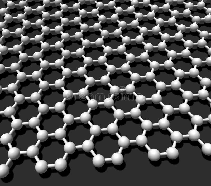 кристаллическая решетка graphene иллюстрация штока
