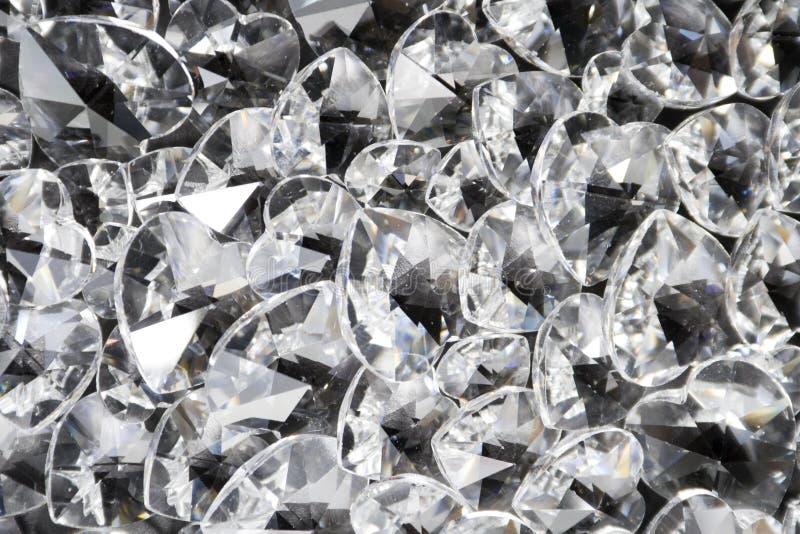 кристаллические сердца сверкная Стоковое фото RF