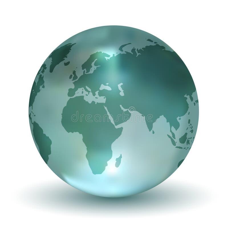 кристаллический глобус земли иллюстрация вектора