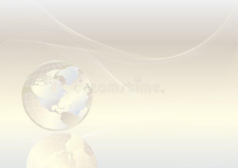 кристаллический глобус иллюстрация вектора