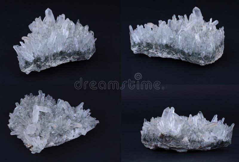 кристаллический утес стоковые фотографии rf