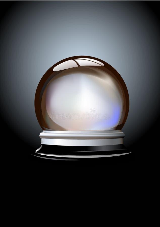 Кристаллический шарик иллюстрация вектора