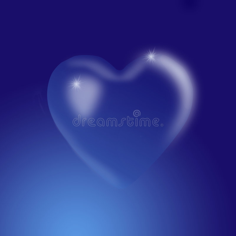кристаллическое сердце иллюстрация штока