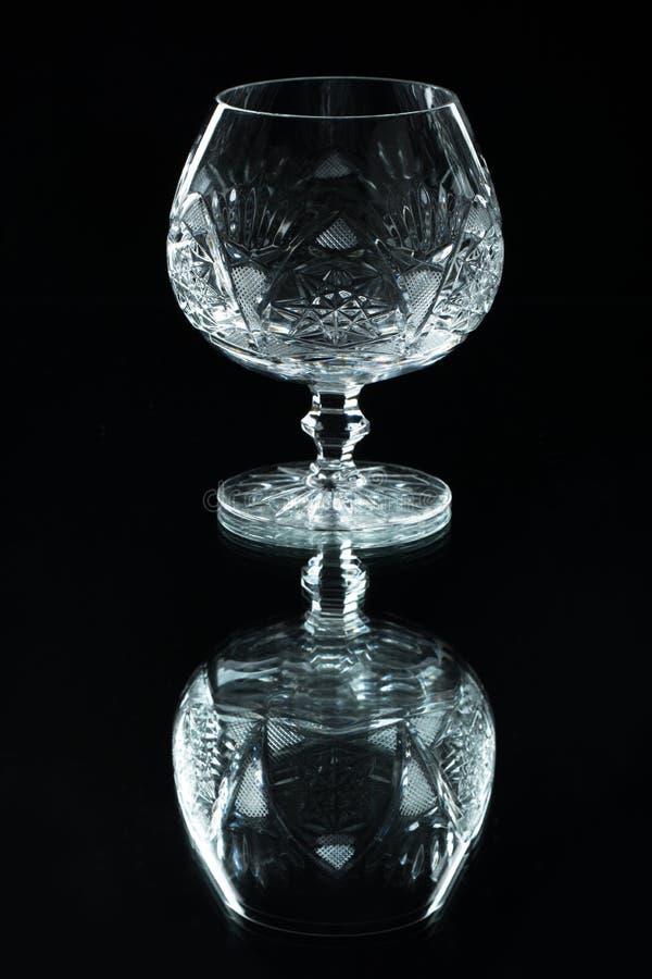 Кристаллическое стекло на черной предпосылке стоковое фото rf