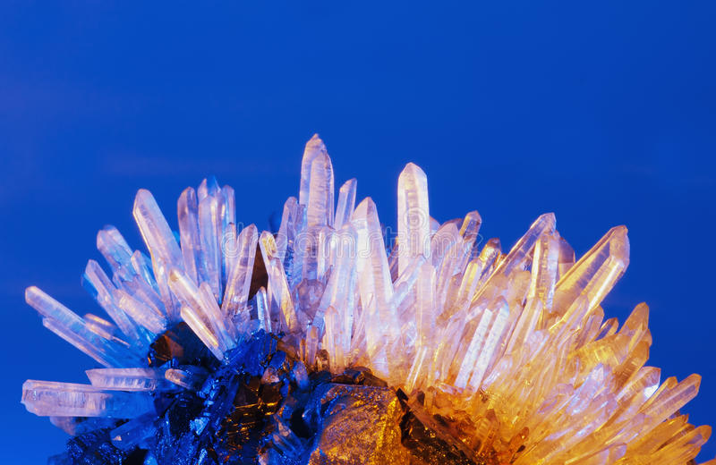 Кристалл кварца стоковая фотография