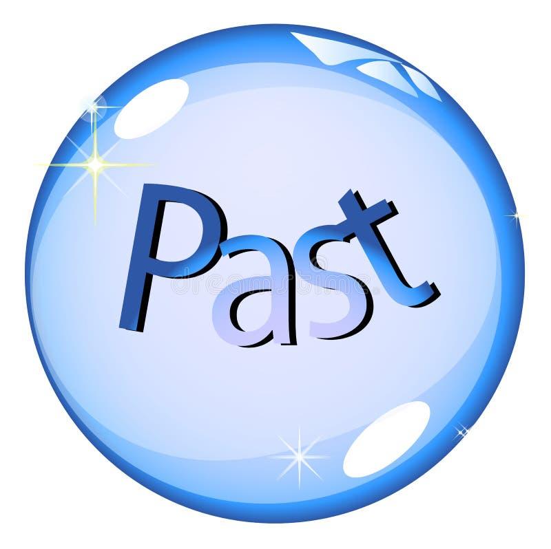 кристалл шарика в прошлом иллюстрация вектора
