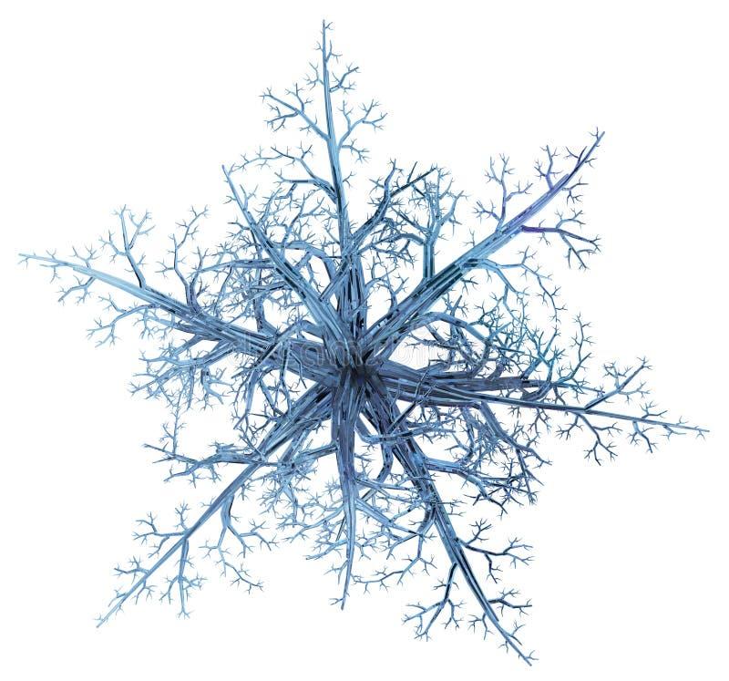 Кристаллическая звезда ветви иллюстрация штока