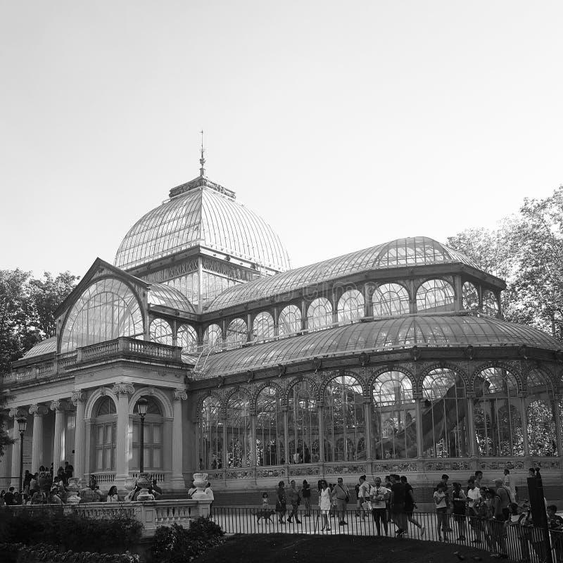 кристаллический дворец madrid стоковые изображения
