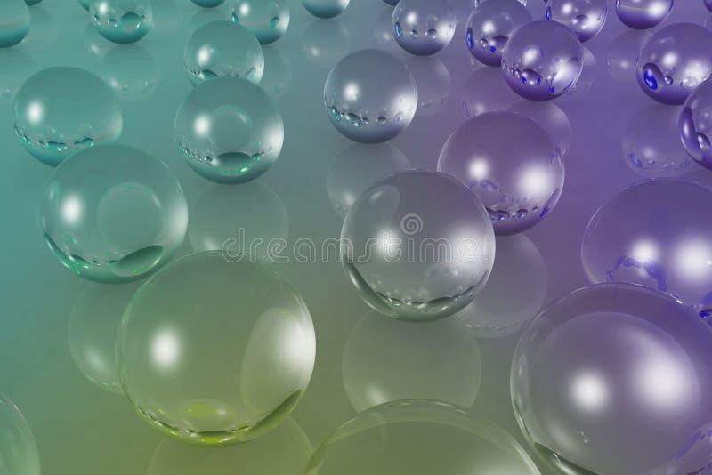 Кристаллический материал цвета отражения шарика иллюстрация штока