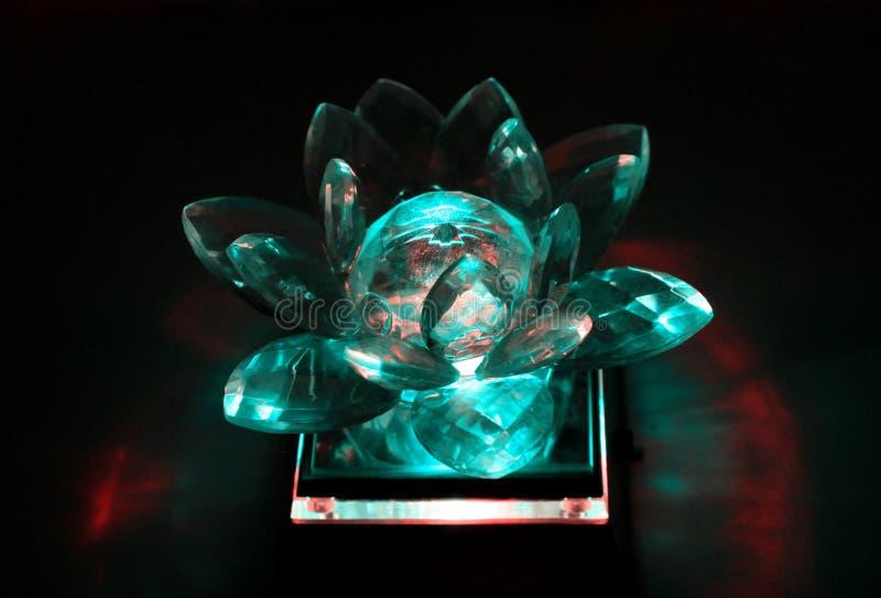Кристаллический цветок лотоса стоковые изображения