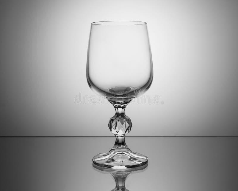 Кристаллическое стекло вина стоковое фото rf