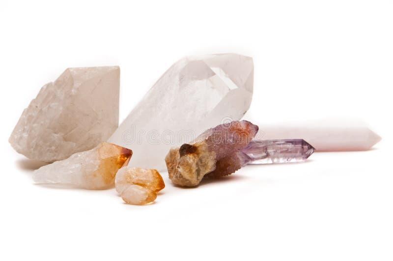 кристаллы излечивая стоковая фотография