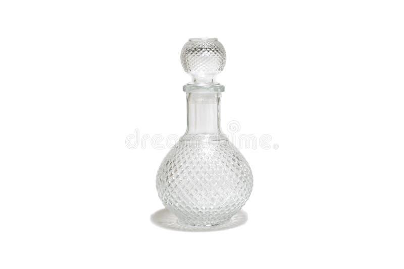 Кристл, бутылка вискиа изолированная на белой предпосылке стоковое фото rf