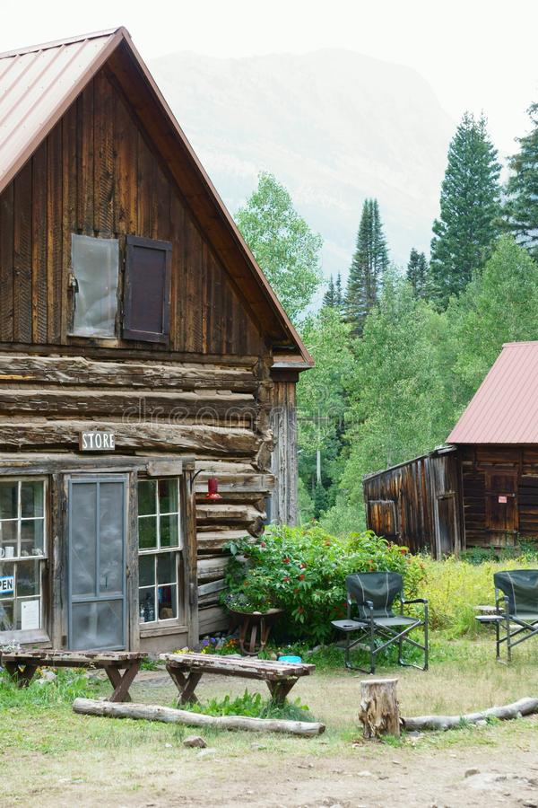Кристл Колорадо почти город-привидение стоковая фотография rf