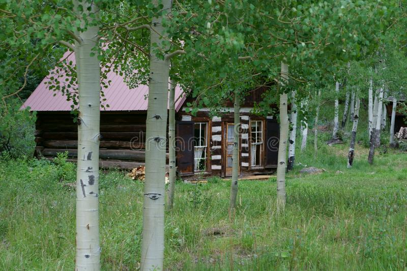 Кристл Колорадо почти город-привидение стоковые изображения rf