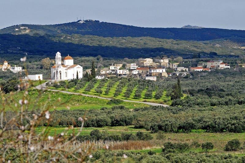 критянин церков свое село стоковая фотография