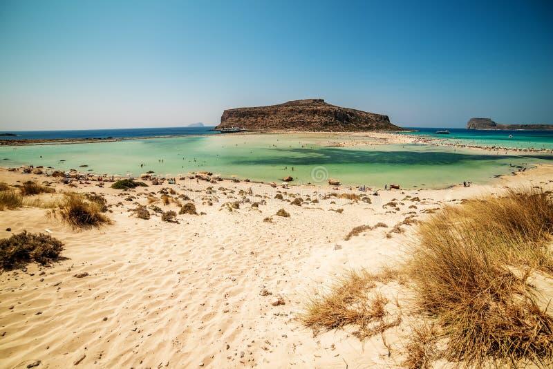 Крит, Греция: Лагуна Balos стоковые изображения rf