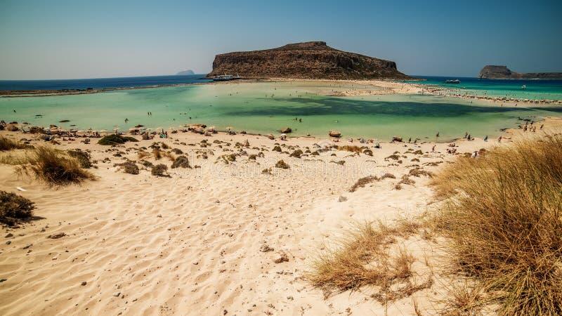 Крит, Греция: Лагуна Balos стоковые фотографии rf
