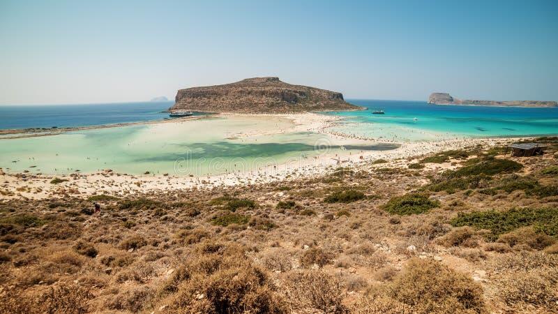 Крит, Греция: Лагуна Balos стоковое изображение rf