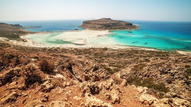 Крит, Греция: Лагуна Balos стоковая фотография