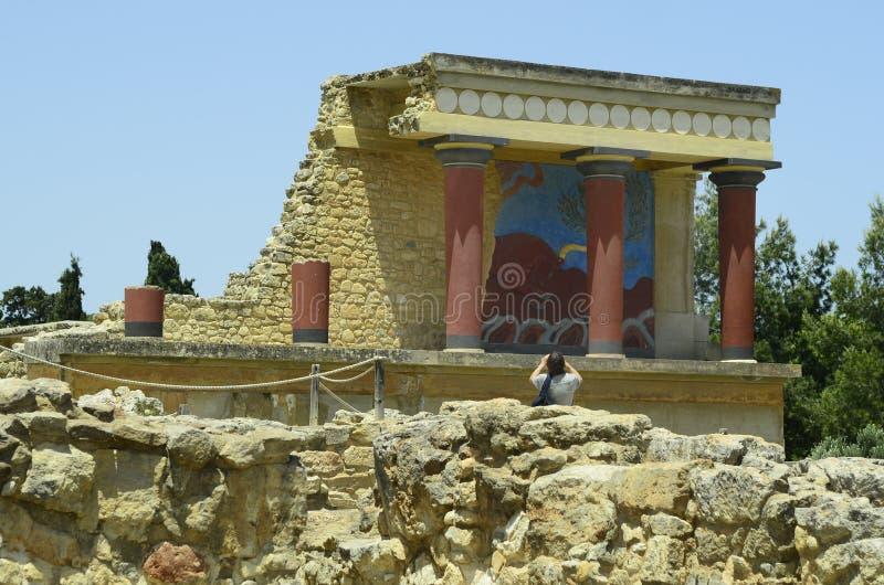 Крит Греция приземлился продолжающееся солнце лучей плоскости стоковые изображения