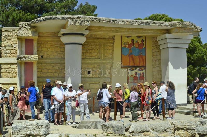 Крит Греция приземлился продолжающееся солнце лучей плоскости стоковая фотография rf